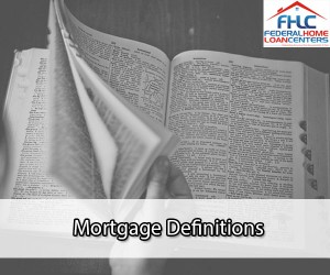 Mortgage Definitions
